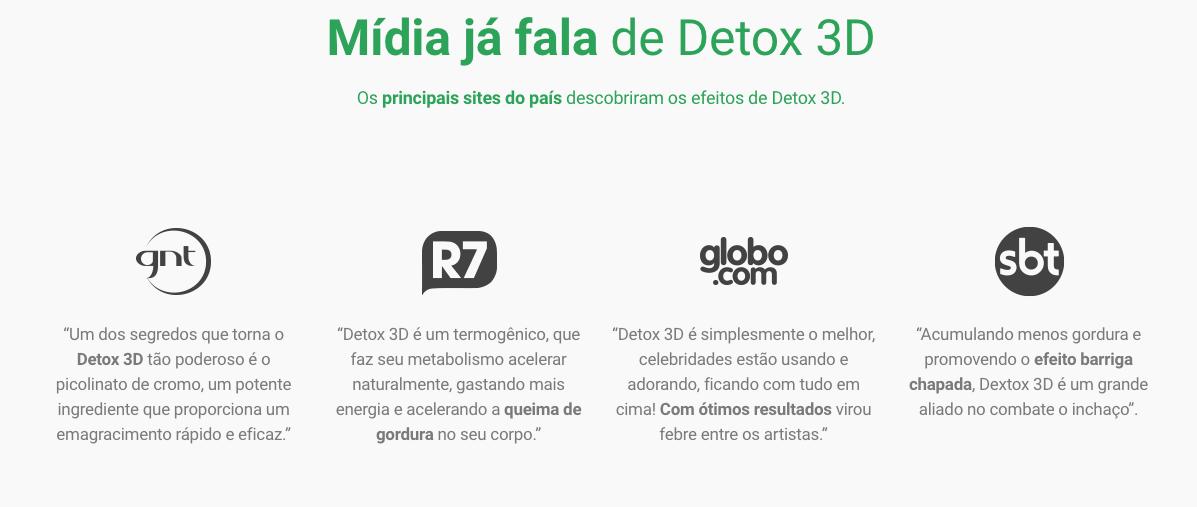 detox 3d como tomar